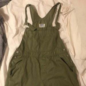 Green Short Overalls Great Condition!